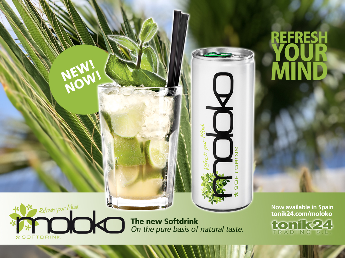 Moloko Softdrink now available in Spain | Order Moloko in Spain!